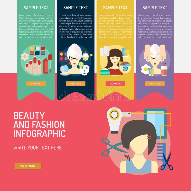 Beauty And Fashion Banner Design Stock Vector