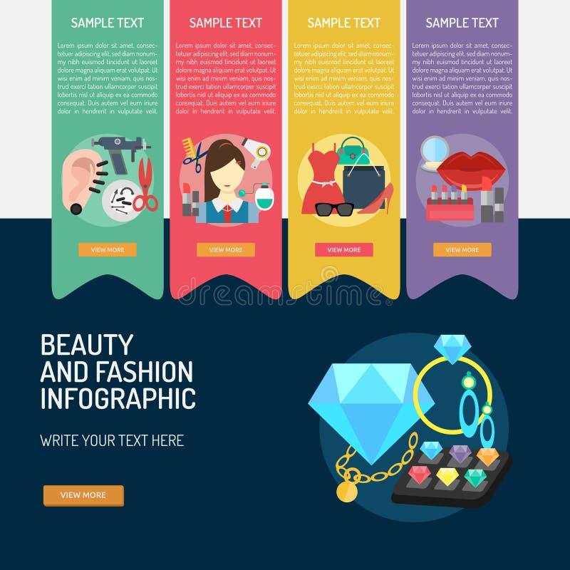 Beauty And Fashion Conceptual Design Stock Vector