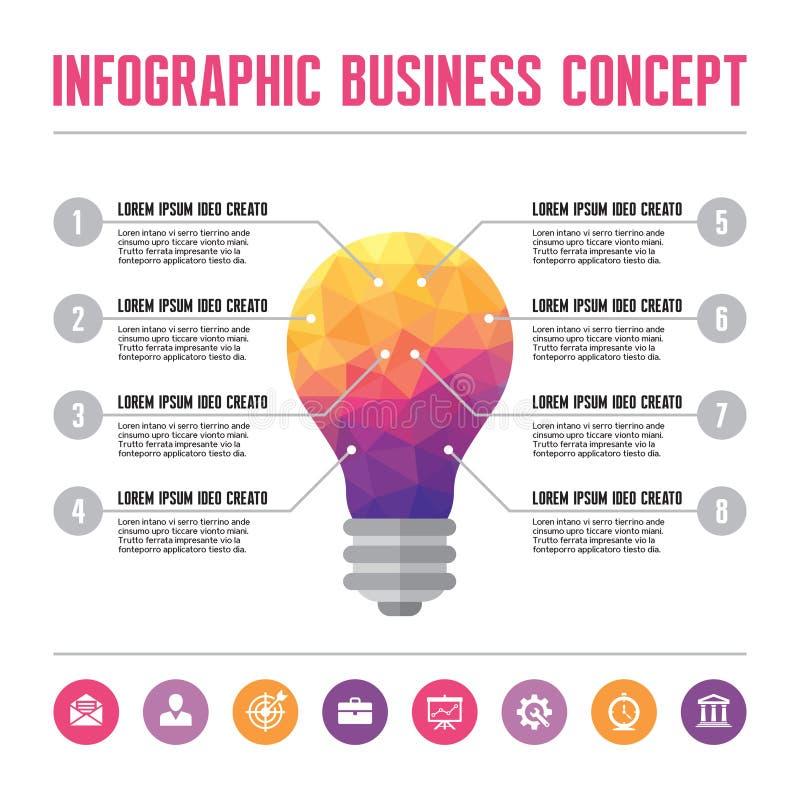 Infographic Bedrijfsconcept - Creatieve Ideeillustratie stock illustratie