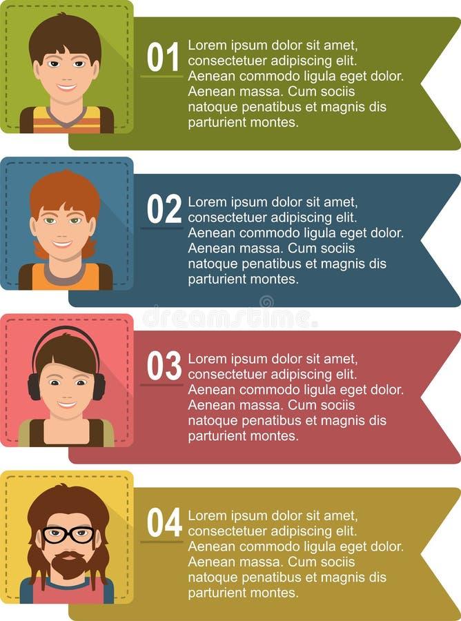 Infographic bedrijfsmalplaatje vectorillustratie royalty-vrije illustratie