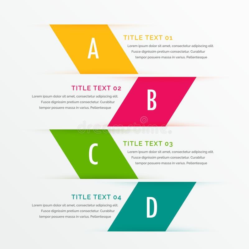 Infographic bedrijfsstappen met ruimte voor uw gegevens vector illustratie