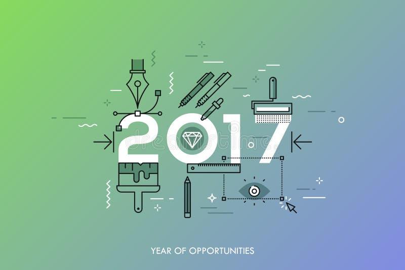 Infographic begrepp 2017 år av tillfällen stock illustrationer