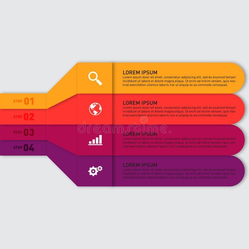 Infographic-Berichts-Schablonengestaltungselement lizenzfreie abbildung
