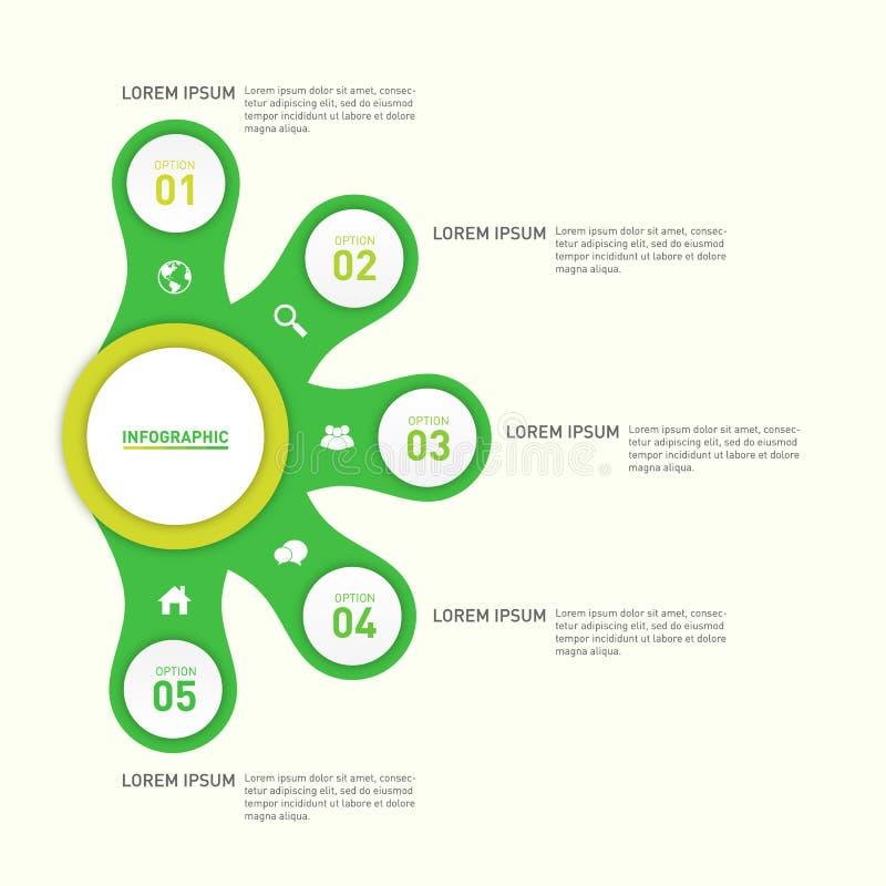 Infographic-Berichts-Schablonengestaltungselement vektor abbildung