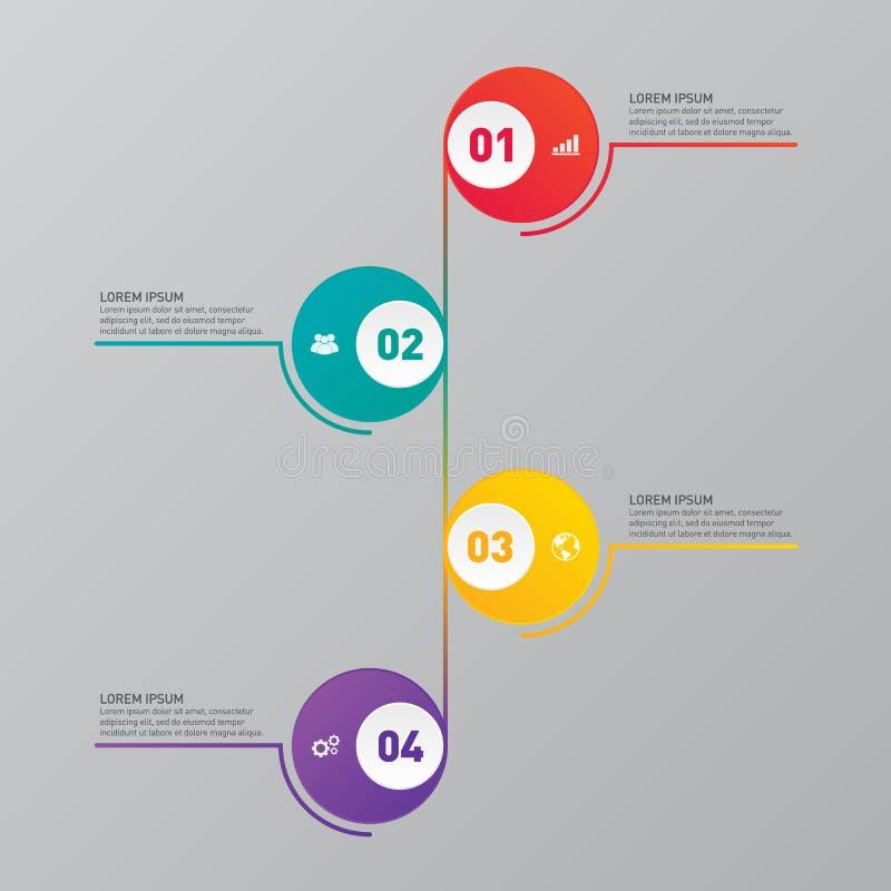 Infographic-Berichts-Schablonengestaltungselement stock abbildung