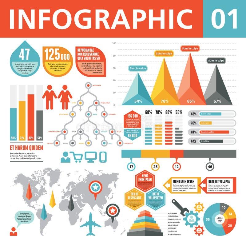 Infographic beståndsdelar 01 royaltyfri illustrationer