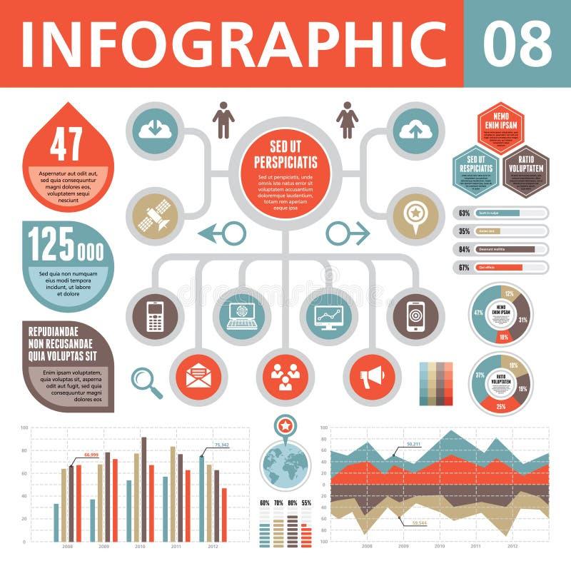 Infographic beståndsdelar 08 stock illustrationer