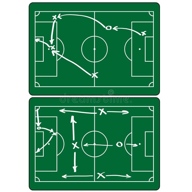 Infographic beståndsdelar för fotbollsmatch Plan design royaltyfri illustrationer