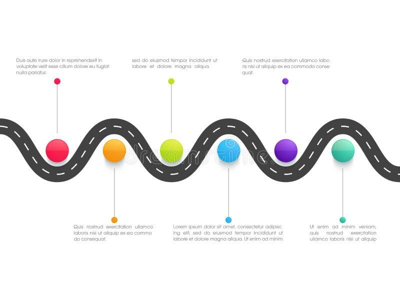 Infographic beståndsdelar för idérik affär stock illustrationer