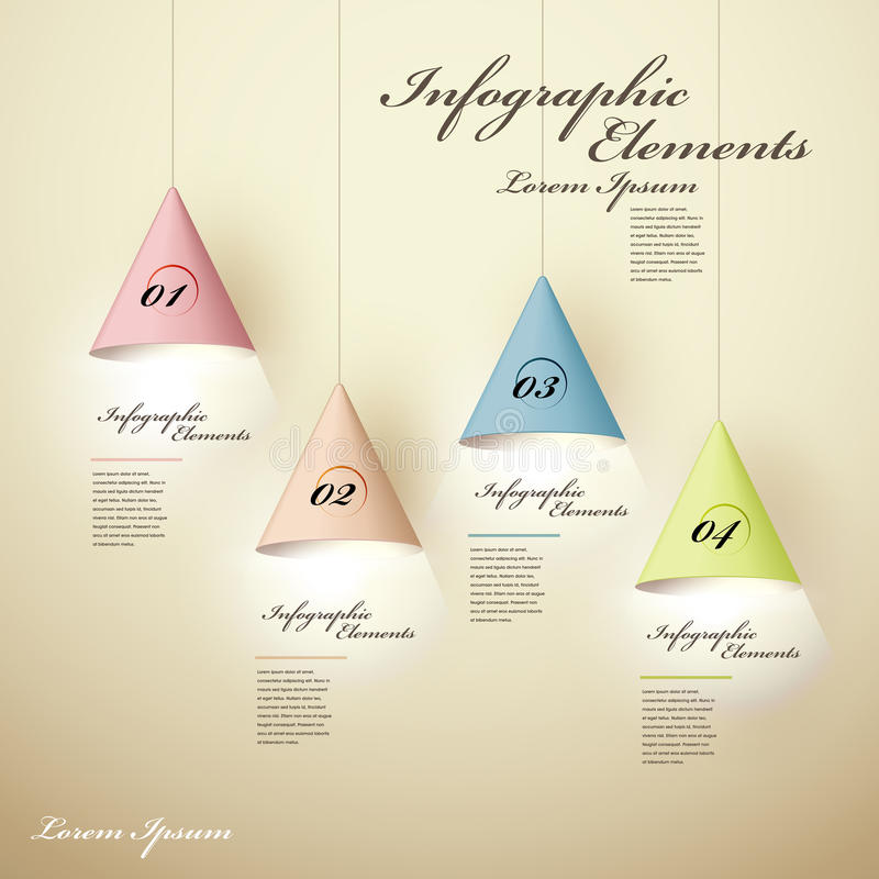 infographic beståndsdelar för lysande ljuskrona 3d stock illustrationer