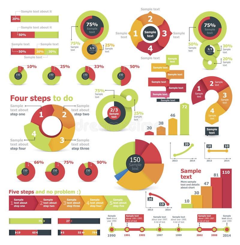 Infographic beståndsdelar för vektor stock illustrationer