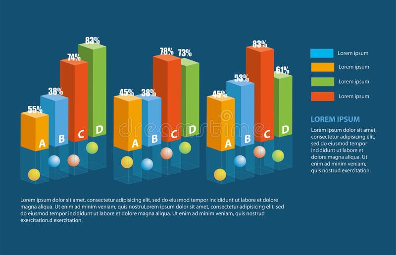 Infographic beståndsdelar, information, vektorillustrationt stock illustrationer