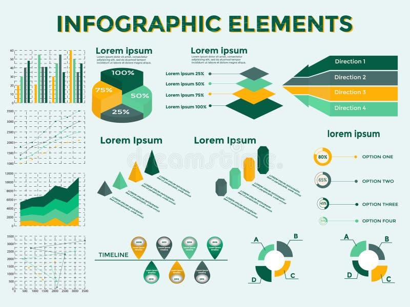 Infographic beståndsdelsamling stock illustrationer