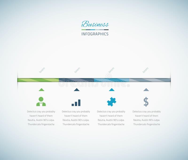 Infographic biznesowa linia czasu z wektorowymi ikonami royalty ilustracja