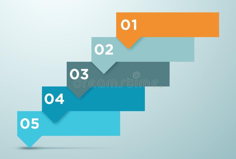 Infographic Biznesowe opcje Jako kroki 1 royalty ilustracja
