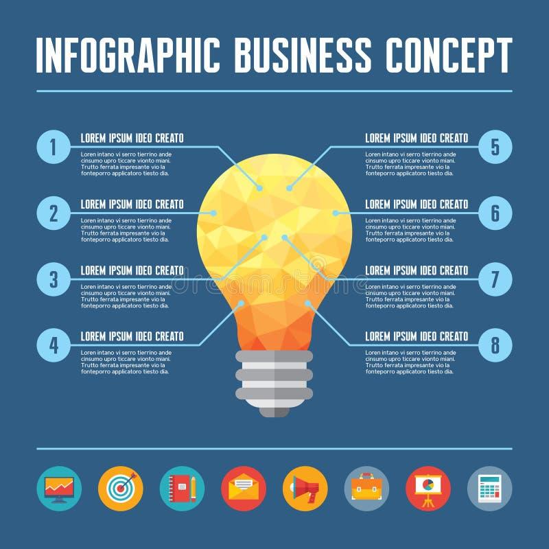 Download Infographic Biznesowy Poj?cie - Kreatywnie Pomys? Ilustracja Ilustracja Wektor - Ilustracja złożonej z pojęcie, światło: 41951110