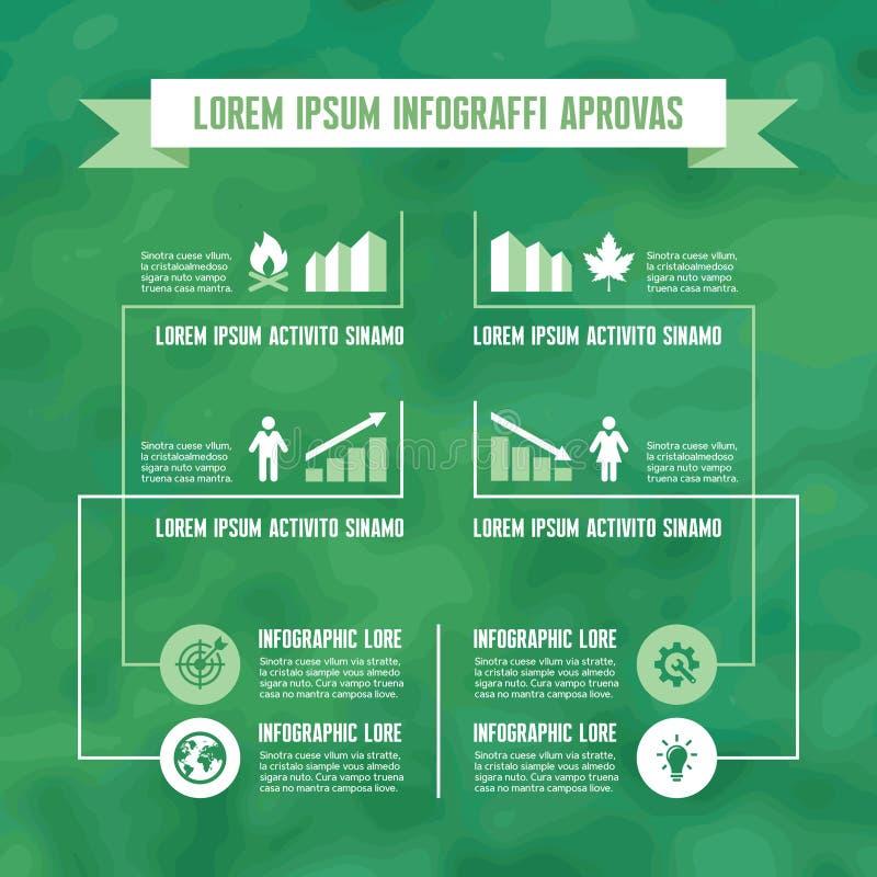 Download Infographic Biznesowy Pojęcie W Zielonym Kolorze Ilustracja Wektor - Ilustracja złożonej z ikony, kolor: 41951108