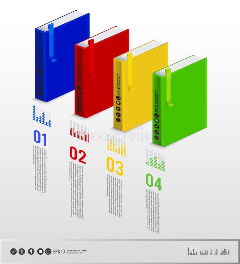 Infographic boek stock illustratie
