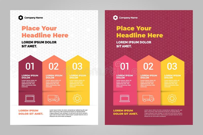 Infographic Brochure Layout Template Design Stock Vector
