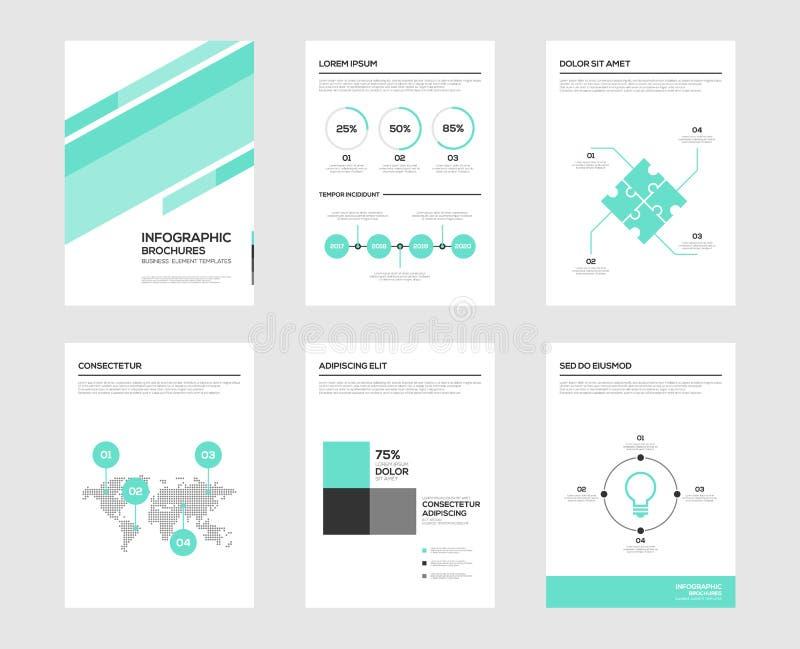 Infographic-Broschürenelemente für Sichtbarmachung der kommerziellen Daten stock abbildung
