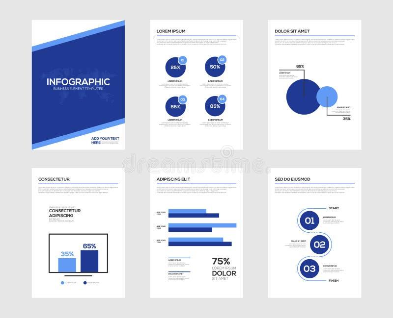 Infographic-Broschürenelemente für Sichtbarmachung der kommerziellen Daten vektor abbildung