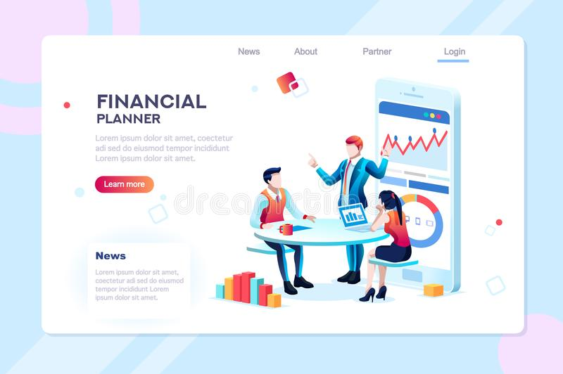 Infographic for Business Adviser Team vector illustration