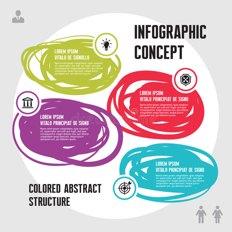 Infographic Business Concept royalty free illustration