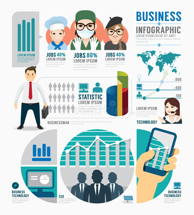 Infographic Business job template design . concept vector stock illustration