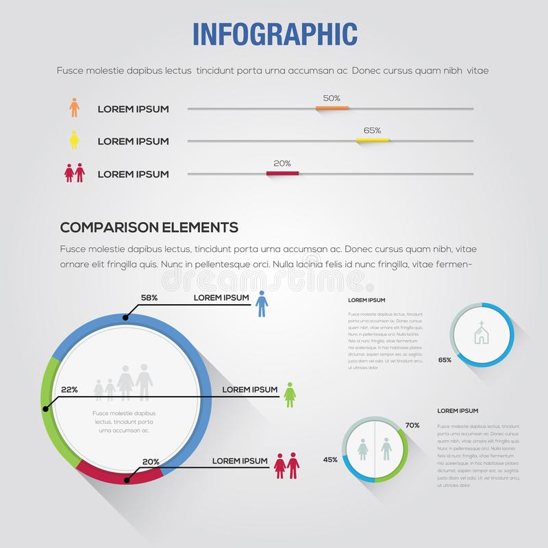 Infographic Business People Design Icon Computer Template stock photography