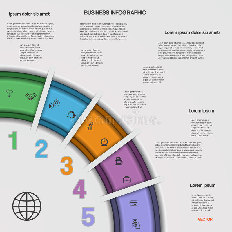 Infographic business process or workflow for your project stock infographic business process or workflow for your project vector illustration template with text areas on 5 positions flashek Choice Image