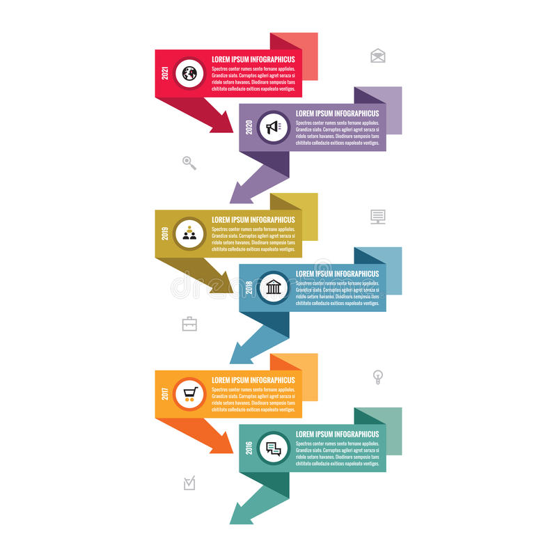 Infographic business vector concept in flat design style - vertical timeline banners. vector illustration