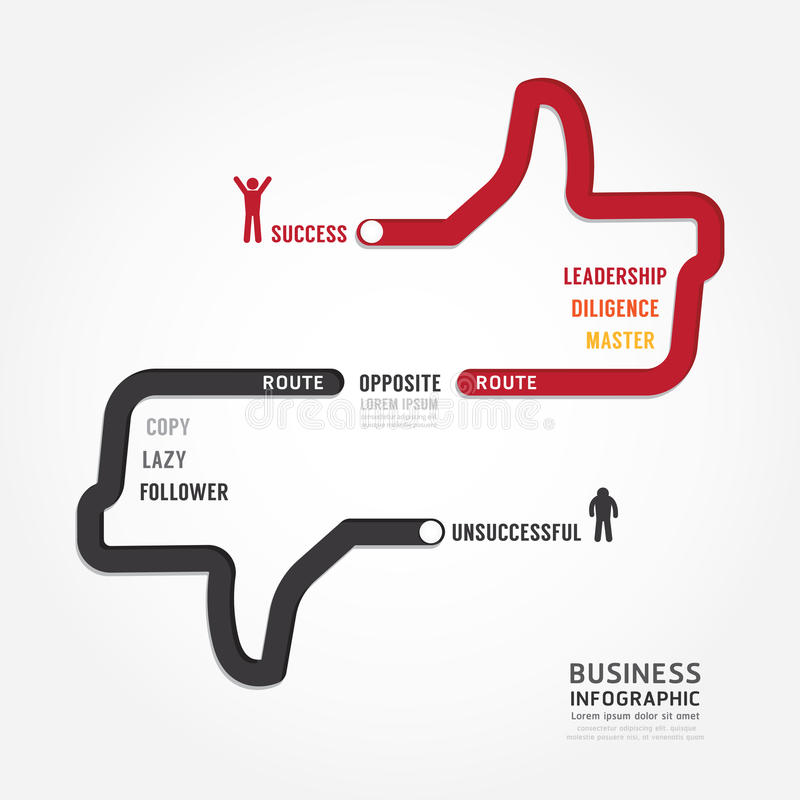 Infographic bussiness. route to success concept template design vector illustration