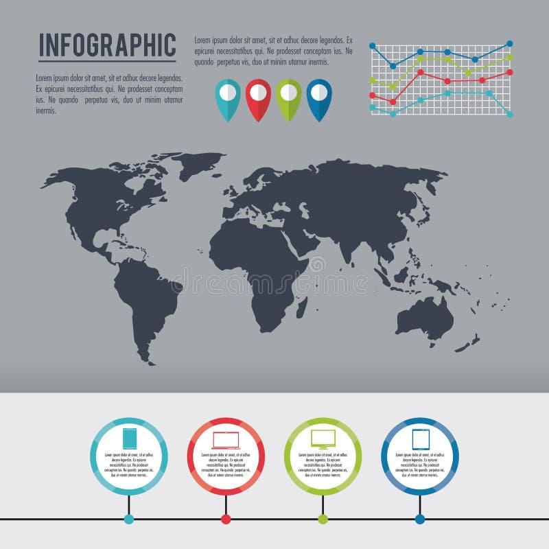 Infographic cały świat ilustracji