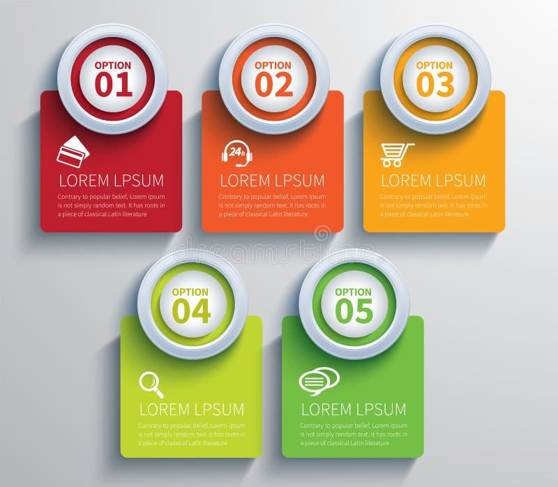 Infographic carré de papier illustration de vecteur