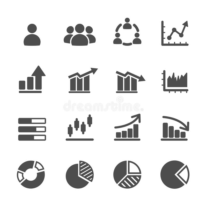 Infographic and chart icon set, vector eps10 royalty free illustration