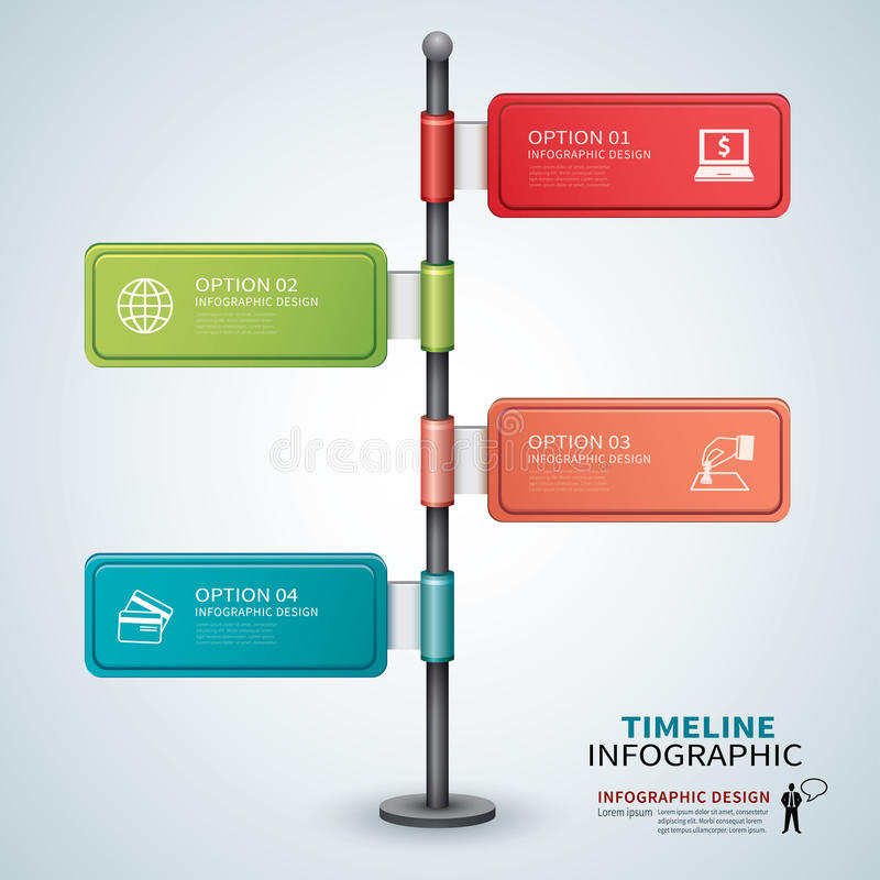 Infographic chronologiemalplaatje royalty-vrije illustratie