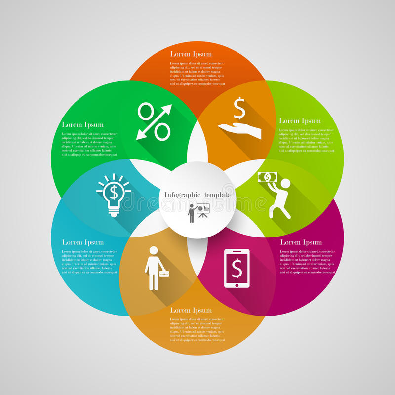 Infographic circle cover template royalty free illustration