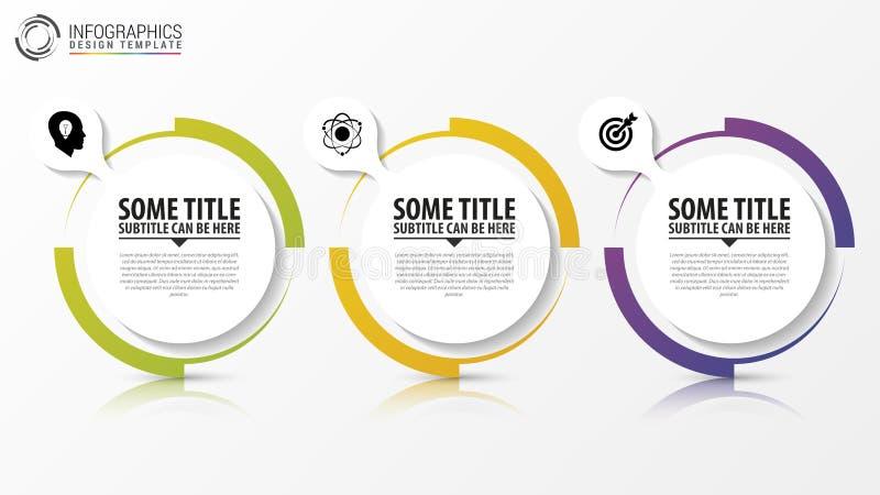 Infographic cirkel Mall för diagram vektor stock illustrationer