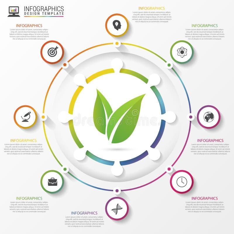 Infographic cirkel Malplaatje voor diagram, grafiek, presentatie Vector royalty-vrije illustratie