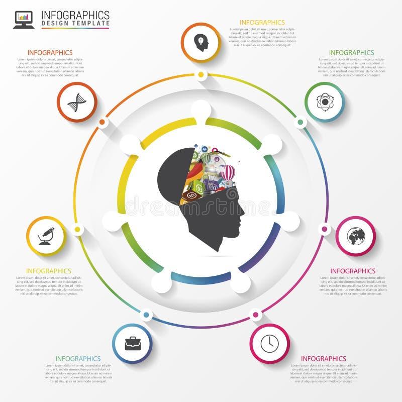 Infographic cirkel Malplaatje voor diagram, grafiek, presentatie Vector stock illustratie