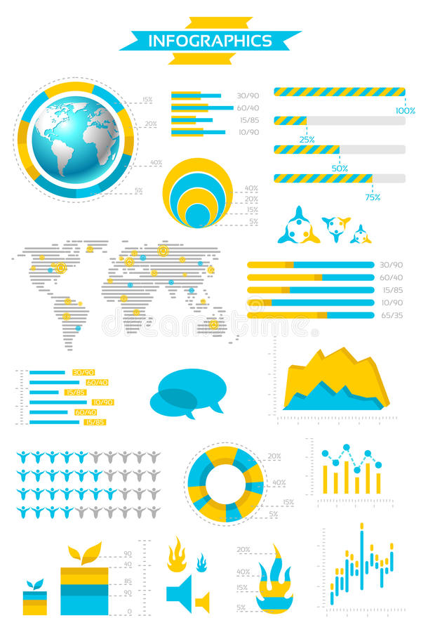 Infographic collection royalty free illustration
