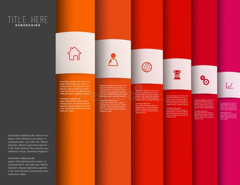 Infographic colorful milestones time line vector template. Infographic colorful milestones time line vector template with icons royalty free illustration