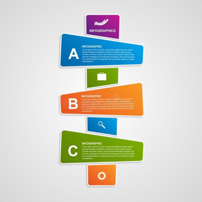 Infographic colorido abstracto del vector Elementos del diseño libre illustration