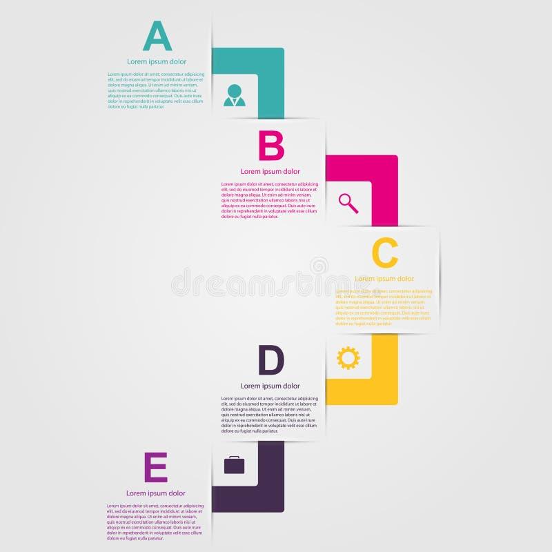 Infographic colorido creativo bajo la forma de cintas Elemento del diseño ilustración del vector