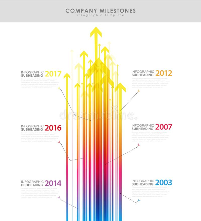 Infographic company milestones timeline vector template with arr. Ows. Vector art stock illustration