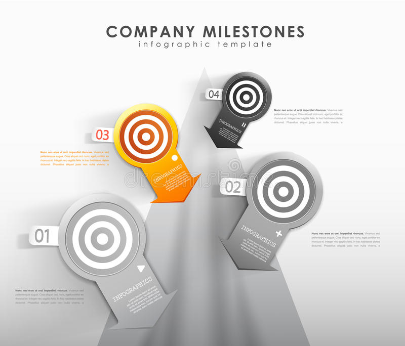 Infographic company milestones timeline vector template. Vector art vector illustration