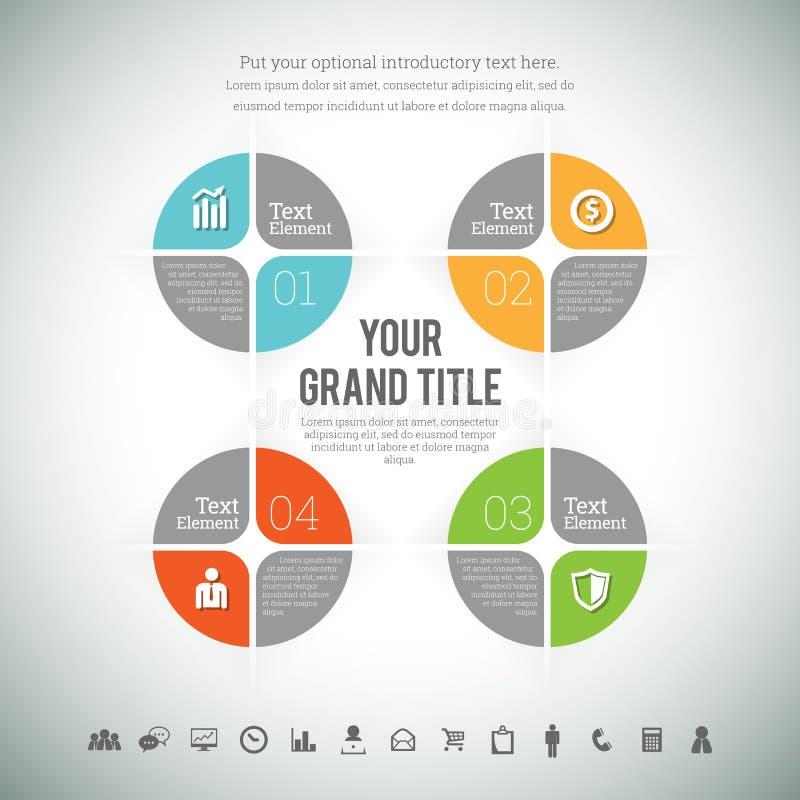 Infographic compuesto cuadrado ilustración del vector