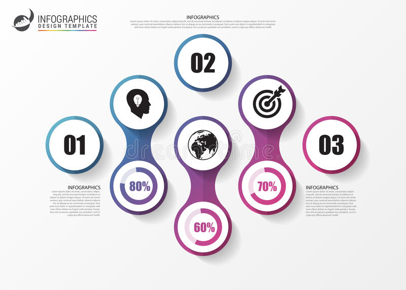 infographic concept Malplaatje voor diagram, grafiek Vector vector illustratie