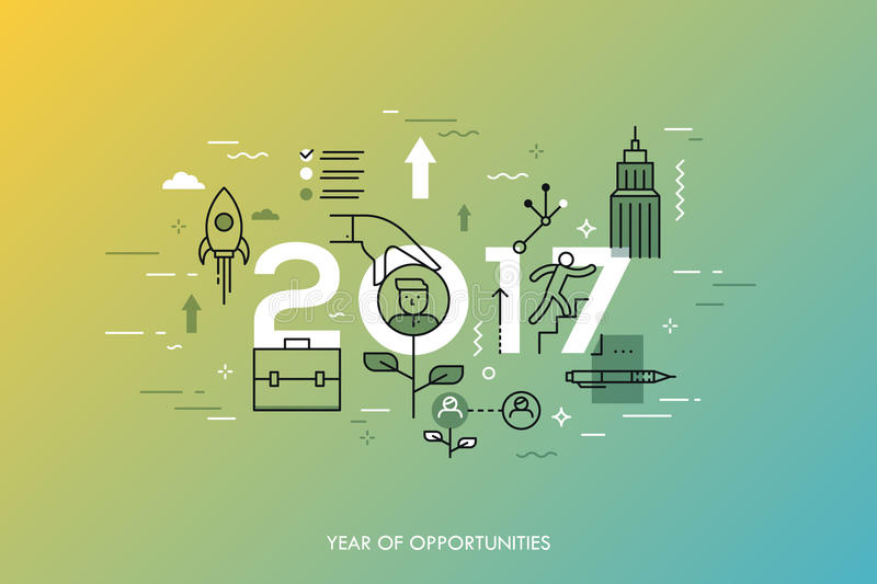download infographic concept 2017 year of opportunities new trends and prospects in career