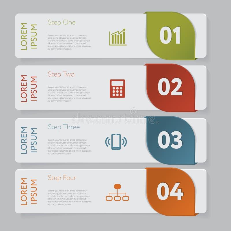 Infographic Concevez le graphique de calibre de bannières de nombre ou la disposition de site Web illustration stock